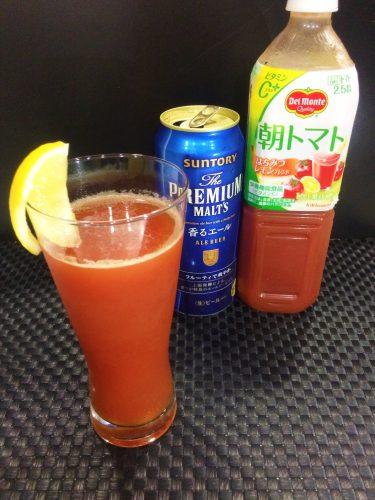 使うトマトジュースもデルモンテから発売されているフルーティな「朝トマト」。