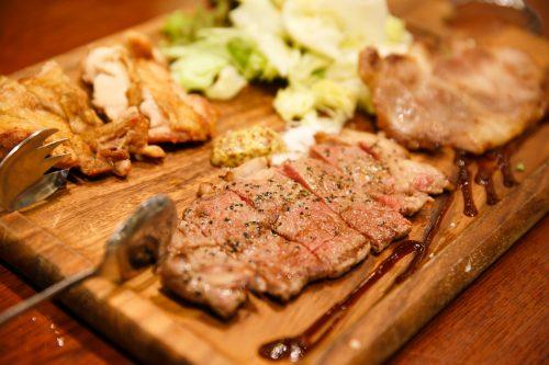 3種のステーキ盛り合わせ