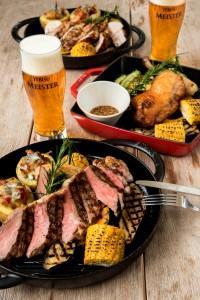 料理メニューもラム肉や岩手県産の豚肉、アンガス牛のステーキなど、食材と産地にこだわった逸品