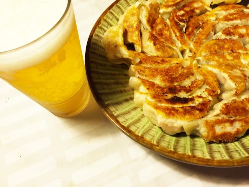 「餃子×ビール」