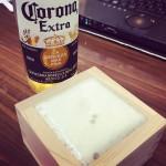 ヒノキ枡とビール