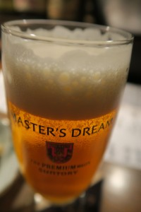 居酒屋「こなから」のビール