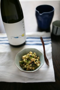 山形料理「だし」の爽やかさと食感が「山川光男」の酸とよく合います。