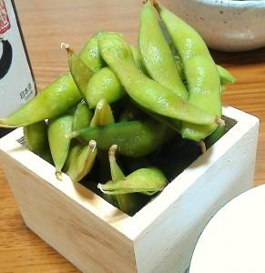 夏の定番の枝豆