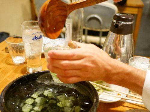 焼酎の『バチ割り』柄杓