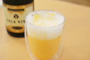 スパークリングの卵酒。