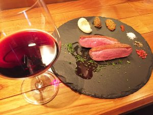 「フランス産シャラン鴨」と「マルキー・ロマーネ」