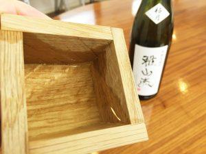 日本酒とミズナラ枡