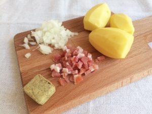 ポテトサラダ『カトフェルンザラート』の材料