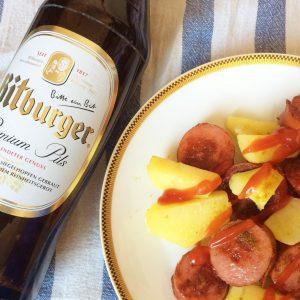 ドイツのソウルフード『カリーヴルスト』、国民的ビール『ビットブルガー』と共に味わう。(by現地在住ライター)