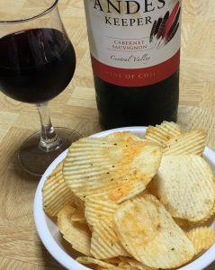 ピザポテト×赤ワイン