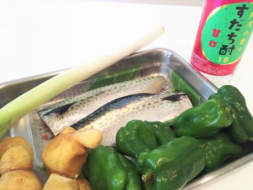 「鯖の味噌煮」の材料
