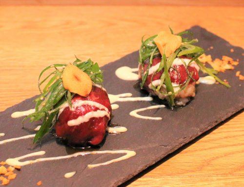 馬肉の手毬寿司