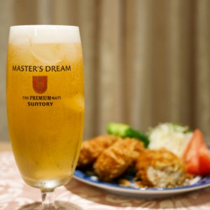 【完売必至の貴重な「コロッケ」に絶妙マッチ】焼酎のホッピー割り、でなくて、まさかのビール割り!!!