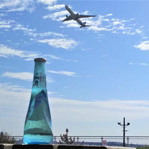 【飛行機をツマミに花見酒?】さくらの山公園でゲットした成田の日本酒「仁勇」に新勝寺参道のウナギを合わせてみる