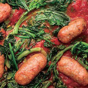 地中海の太陽の恵みトマト缶を使ったソーセージ煮レシピ!